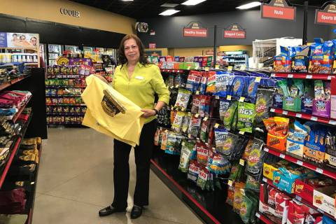 (Hali Bernstein Saylor/Boulder City Review) Vilma Navarro, manager of the travel center at Rail ...