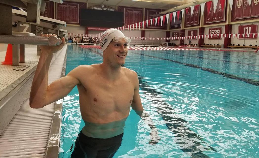 (International Swimming League) Zane Grothe, a 2010 graduate of Boulder City High School, was s ...