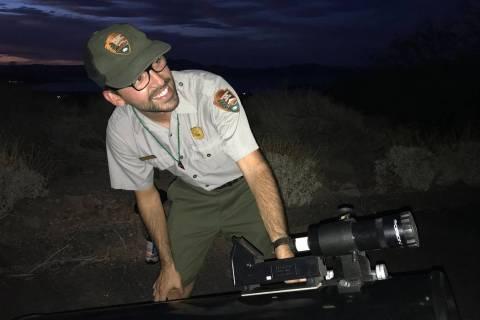 (Hali Bernstein Saylor/Boulder City Review) Thomas Valencia, education and outreach specialist ...