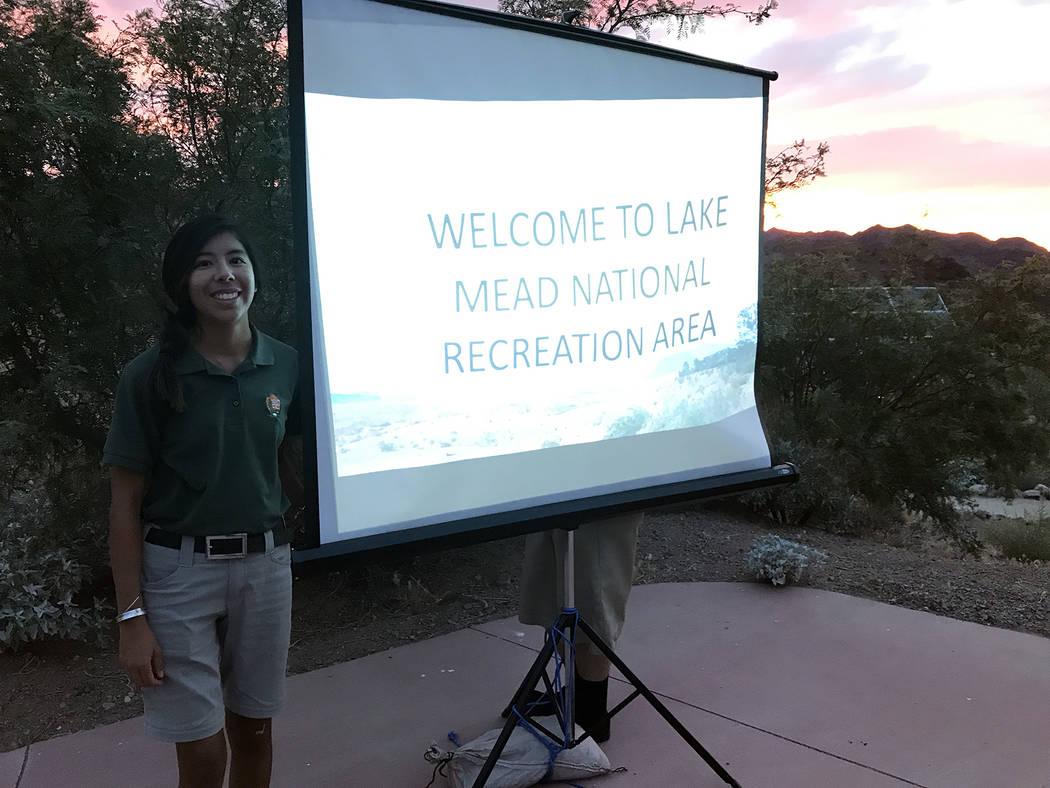 (Hali Bernstein Saylor/Boulder City Review) Niki Heun, an interpretation and education technici ...