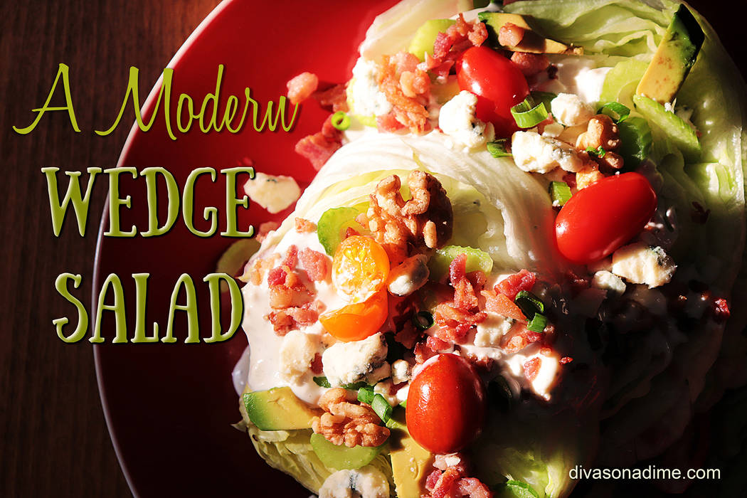 (Patti Diamond) The classic wedge salad gets a practical update by slicing the lettuce into dis ...