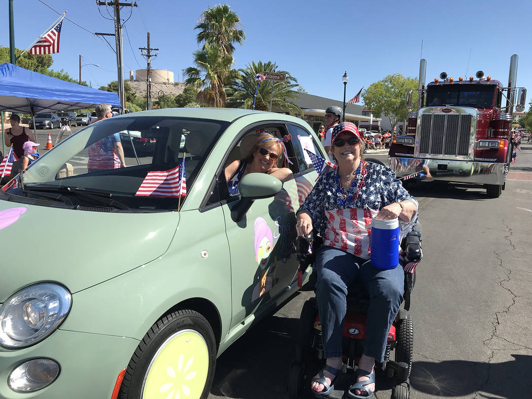(Hali Bernstein Saylor/Boulder City Review) Dawn Hooper, left, owner of The Spa Life, and her m ...