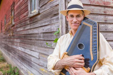 "(Adam Miller) Folk singer and story teller Adam Miller will present his award-winning show, "" ..."
