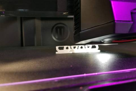 (Celia Shortt Goodyear/Boulder City Review) The 3D printer at the Boulder City Library, 701 Ada ...