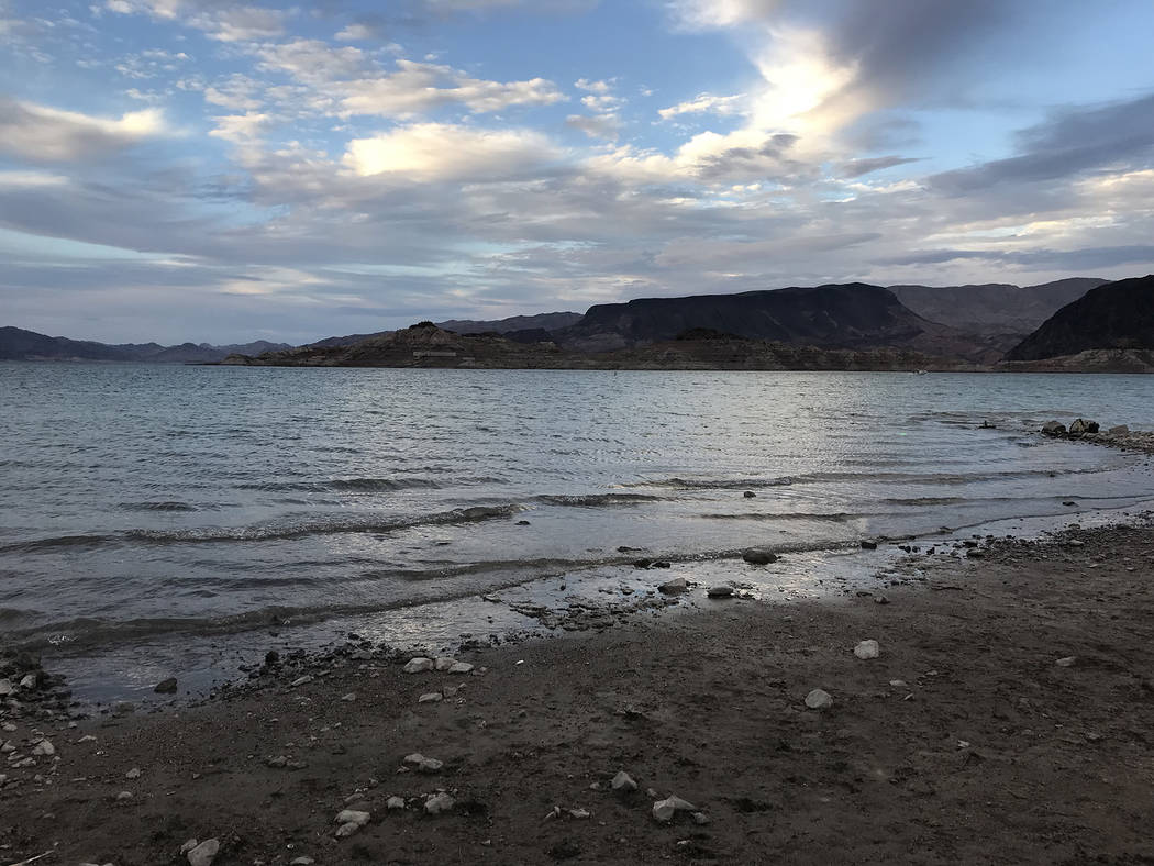 Lake Mead offers miles of shorelines, including beach areas, and plenty of picturesque opportun ...