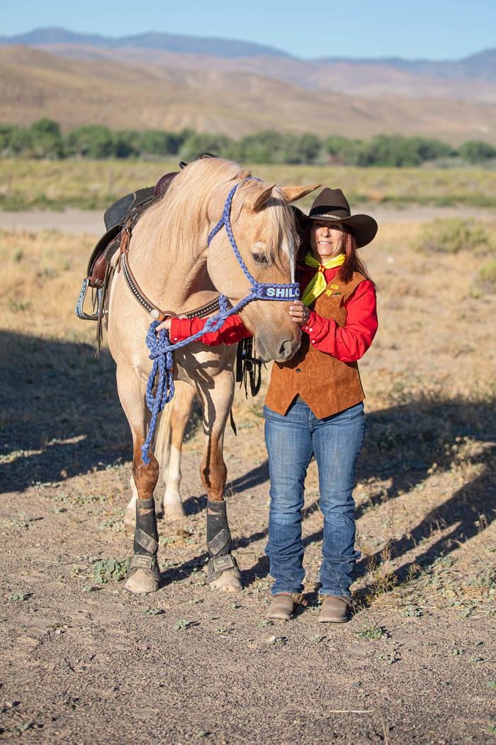 (Julie Sprague) Julie Sprague rode her horse Shiloh along a 7-mile stretch of the original Pony ...