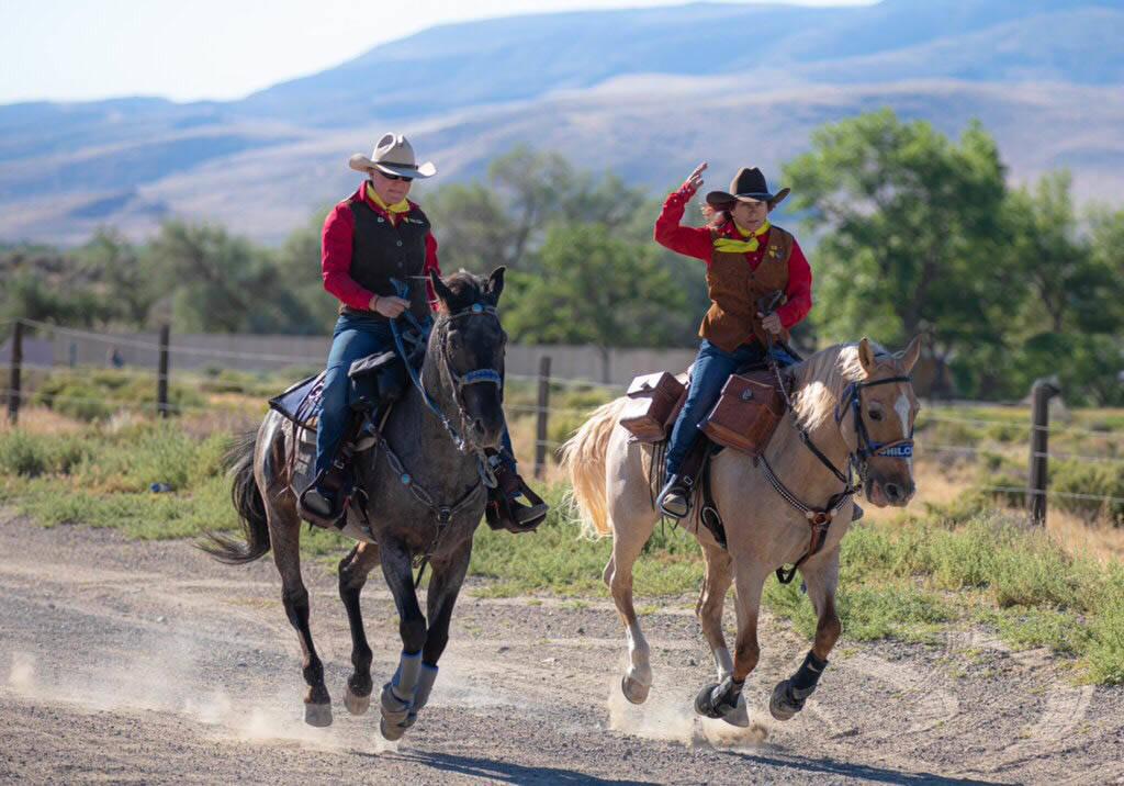 (Julie Sprague) Krissy Bishop, left, and Julie Sprague ride along a 7-mile stretch between Fort ...