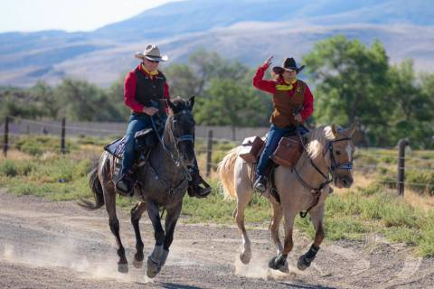 (Julie Sprague) Krissy Bishop, left, and Julie Sprague ride along a 7-mile stretch between Fort ...