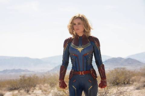 "(Marvel Studios) Brie Larson stars as Carol Danvers/Captain Marvel in ""Captain Marvel,"" which w ..."