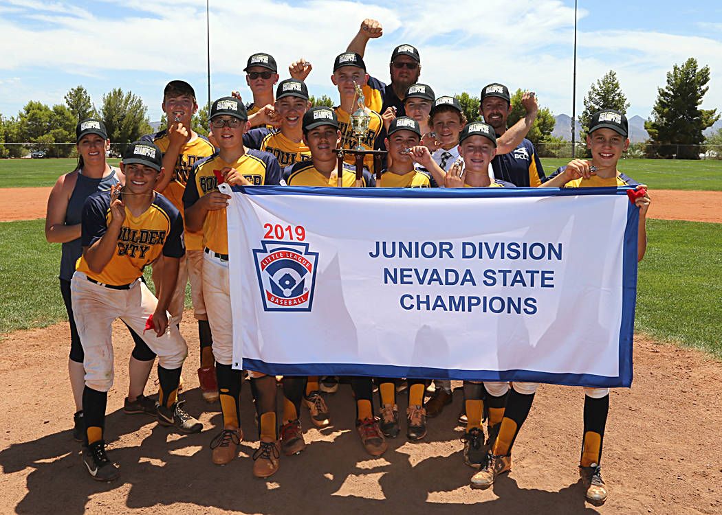 (DCI Photography) Boulder City Little League Junior All-Stars won the state championship Sunday ...