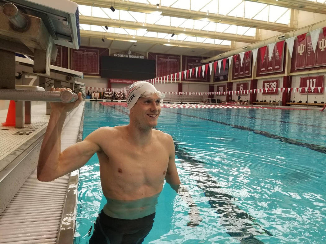 Zane Grothe, a 2010 graduate of Boulder City High School, is competing in the 2019 FINA World C ...