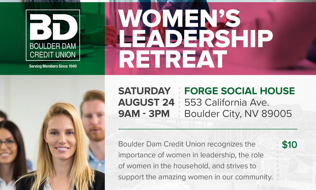 (Boulder Dam Credit Union) Boulder Dam Credit Union is presenting a one-day Women's Lead ...