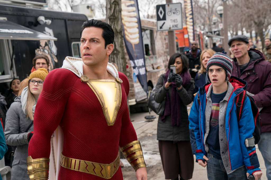 """Shazam!,"" starring Zachary Levi, left, and Jack Dylan Grazer, will be shown at 5:30 p.m. Frida ..."