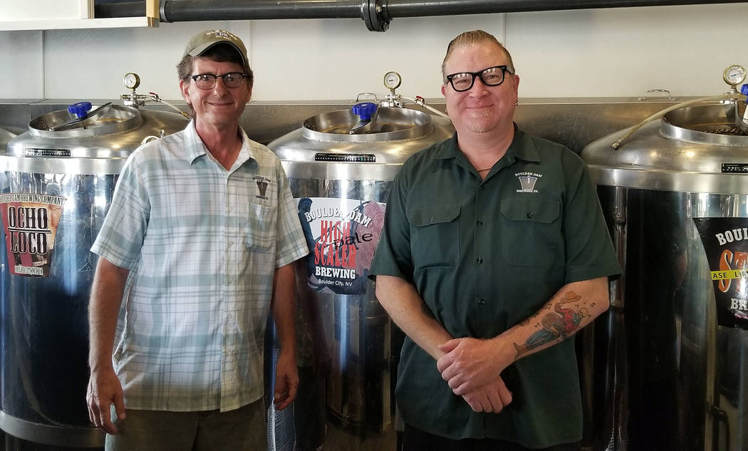 (Celia Shortt Goodyear/Boulder City Review) The Boulder Dam Brewing Co. offers several kinds of ...