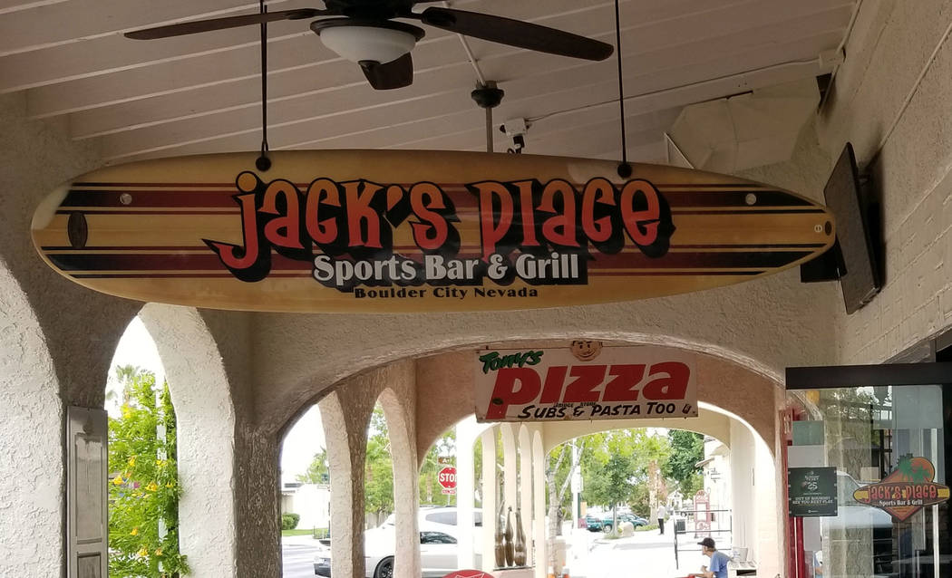 (Celia Shortt Goodyear/Boulder City Review) Jack's Place Sports Bar & Grill, 544 Nevada Way, is ...