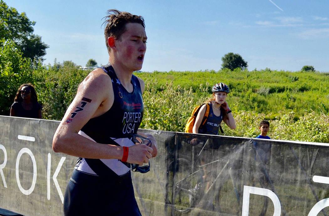 (Lynette Porter) Ethan Porter of Boulder City competed in the 2019 USA Triathlon Junior Nationa ...