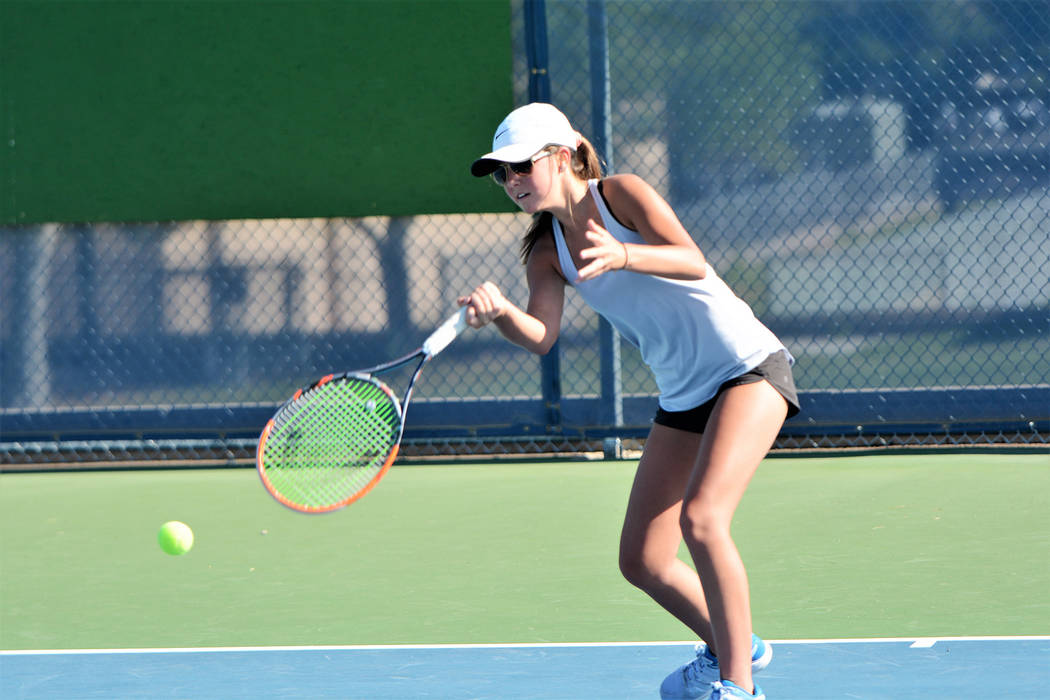 (Robert Vendettoli/Boulder City Review) Senior Tegan Pappas, who was named to the All-Southern ...