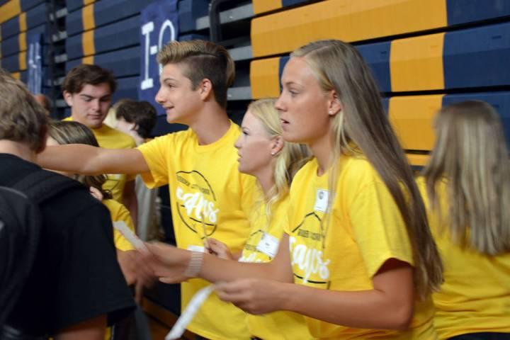 Celia Shortt Goodyear/Boulder City Review Boulder City High School student council members, fro ...