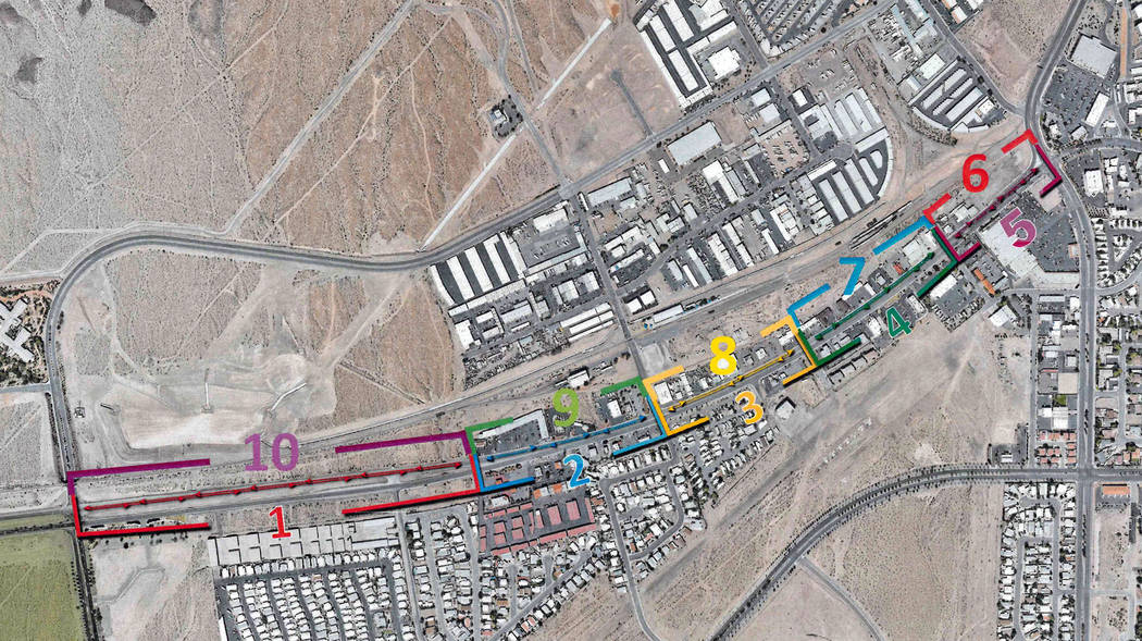 (Boulder City) The city's complete street project on Boulder City Parkway will be done in 10 ph ...