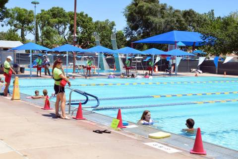 The Boulder City Pool features open swim sessions daily for area residents to enjoy.