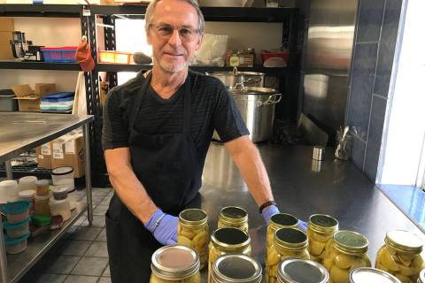 (Hali Bernstein Saylor/Boulder City Review) Nicholas Kreway, owner of The Pickled Pantry, recen ...