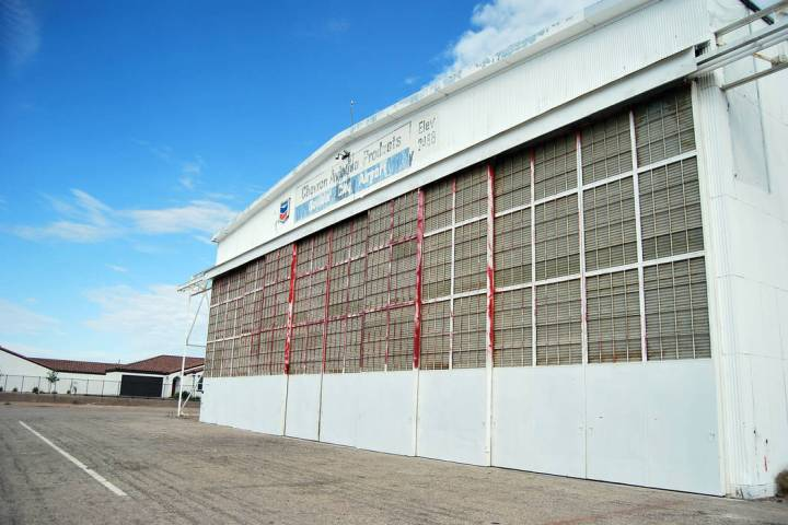 (Tim Dewar) Proposals for the old airport hangar and runway at 1401 Boulder City Parkway will b ...
