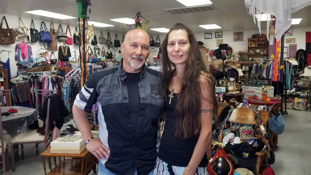 (Celia Shortt Goodyear/Boulder City Review) Darren Mancusi and his wife, Lucia Patane, are the ...