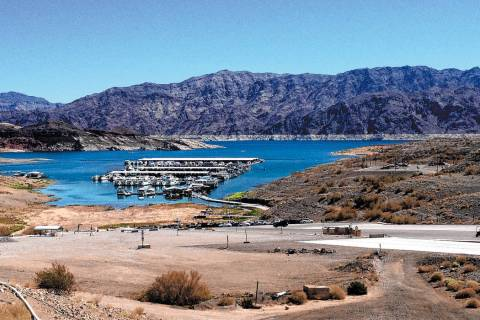 The Callville Bay access road, parking lots and campground road are some of the areas in Lake M ...