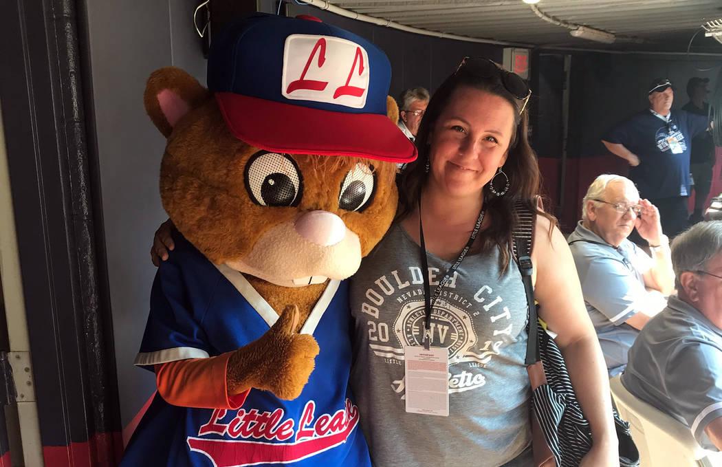 Katie Kilar Boulder City Little League President Katie Kilar hangs out with Dugout, the Little ...