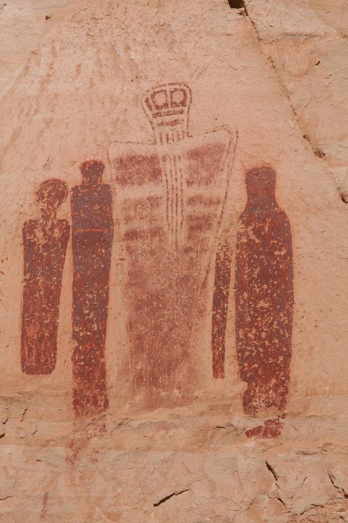 (Deborah Wall) The Holy Ghost panel in Canyonlands National Park's Horseshoe Canyon feat ...