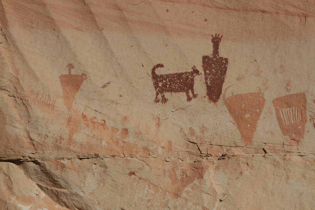 (Deborah Wall) There are four pictograph sites in Horseshoe Canyon in Canyonlands National Park ...