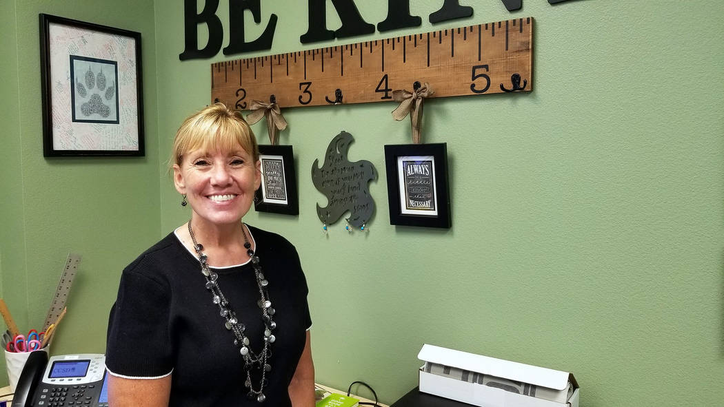 (Celia Shortt Goodyear/Boulder City Review) Melanie Teemant is the new principal at Garrett Jun ...
