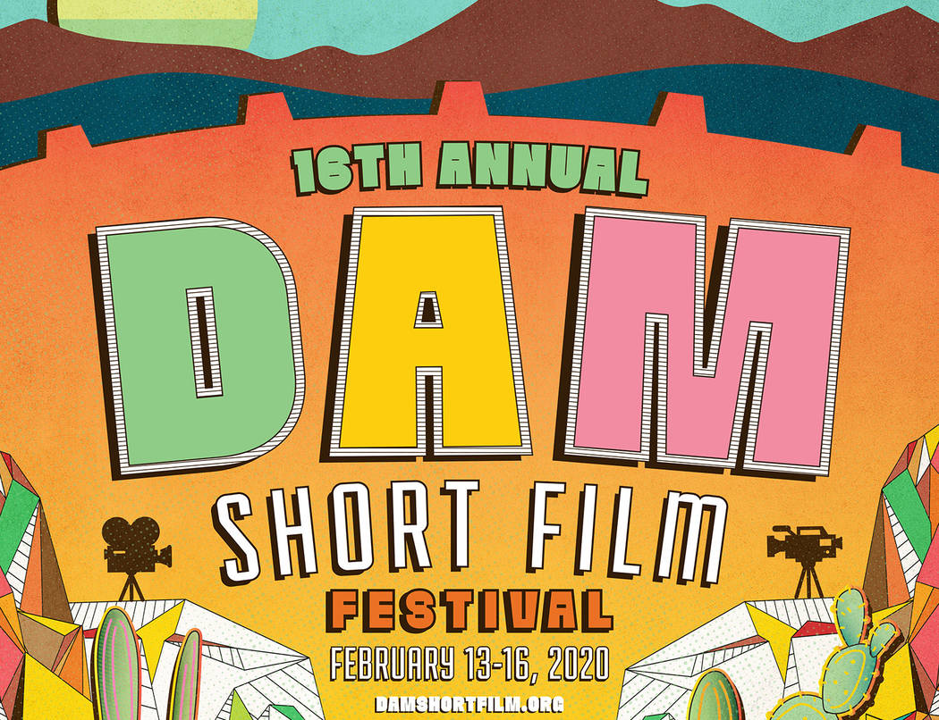 (Dam Short Film Festival) Eric Vozzola of Las Vegas created the winning poster for the 2020 Dam ...