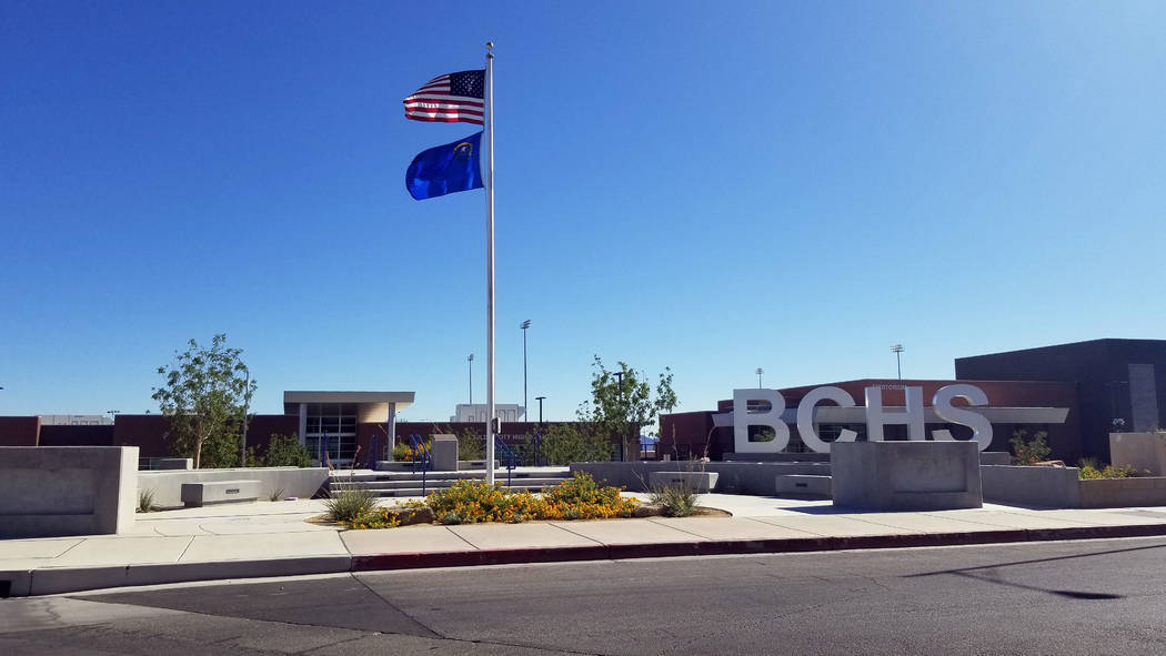 (Celia Shortt Goodyear/Boulder City Review) The members of the 10th class of Boulder City High ...