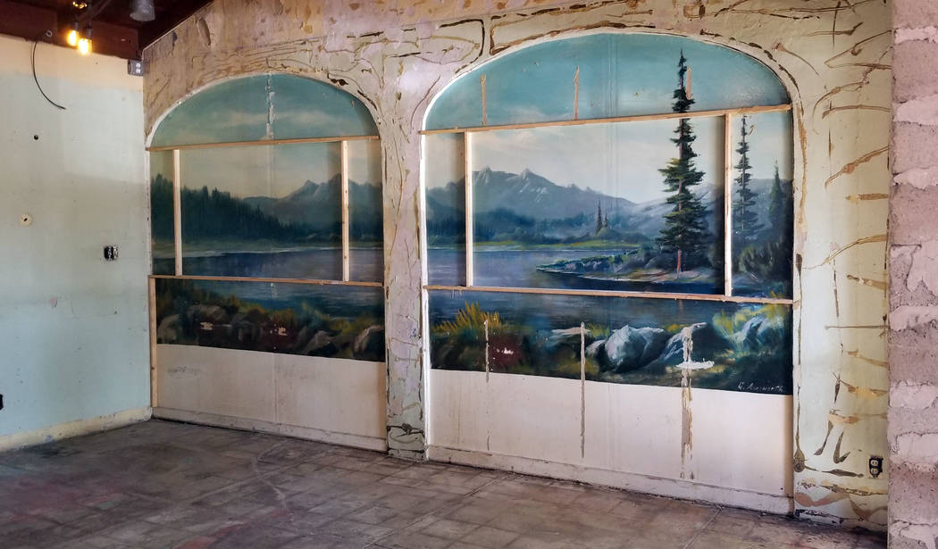 (Celia Shortt Goodyear/Boulder City Review) This mural is inside the old Browder building in do ...