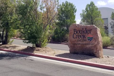 (Celia Shortt Goodyear/Boulder City Review) Boulder Creek Golf Club, 1501 Veterans Memorial Dri ...