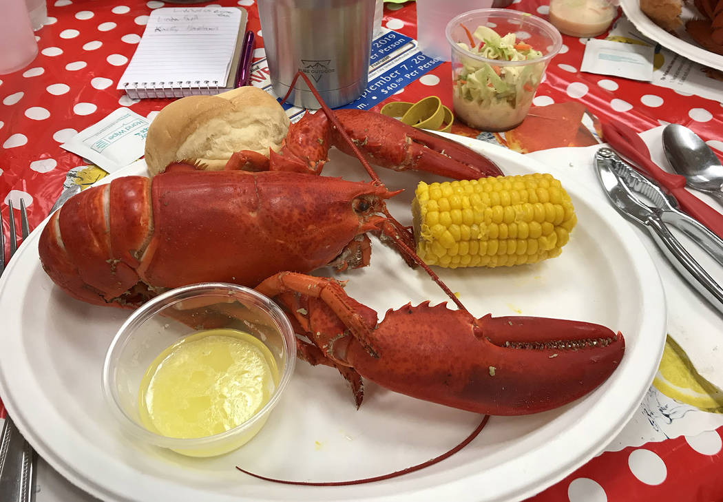 (Hali Bernstein Saylor/Boulder City Review) In addition to a whole Maine lobster dinner, Boulde ...
