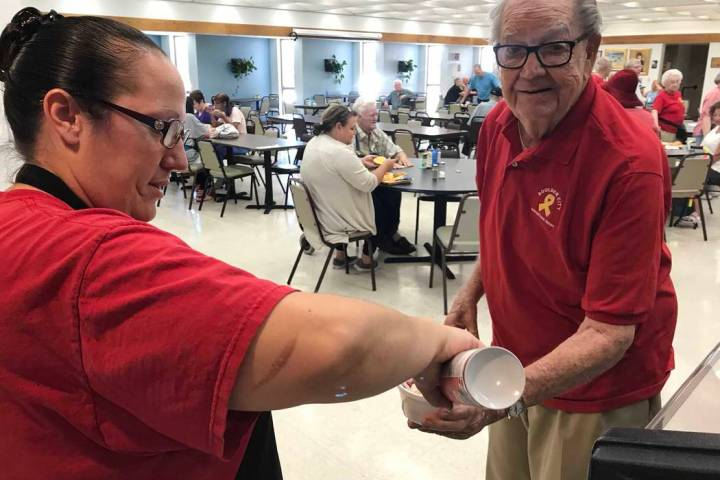 (Hali Bernstein Saylor/Boulder City Review) Shannon Chavez of the Senior Center of Boulder City ...