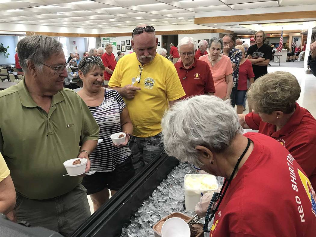 (Hali Bernstein Saylor/Boulder City Review) People lined up for some cool and tasty treats duri ...