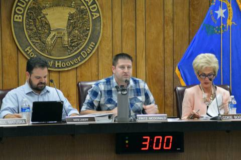 (Celia Shortt Goodyear/Boulder City Review) Boulder City Planning Commission Chairman Fritz McD ...