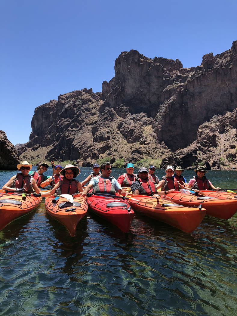 (Blazin' Paddles) Blazin' Paddles, which offers kayak tours on the Colorado River ...