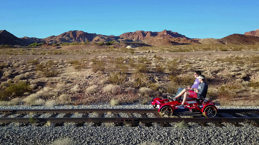 (Rail Explorers) Rail Explorers has expanded its operations in Boulder City to year-round. It w ...