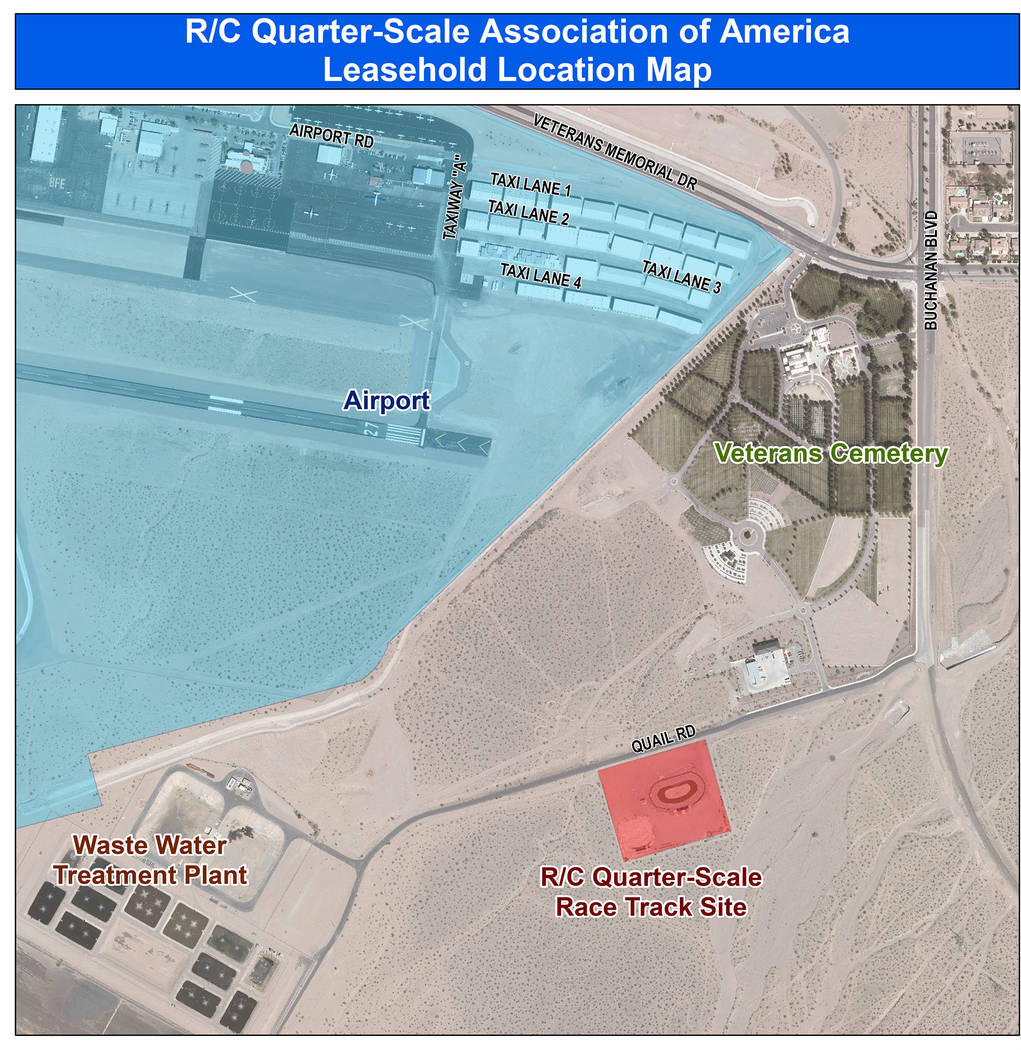 Boulder City City Council introduced a resolution to amend the lease agreement for the racetrac ...