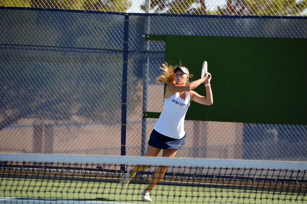 Celia Shortt Goodyear/Boulder City Review Boulder City High School senior Sophia Morris prepare ...