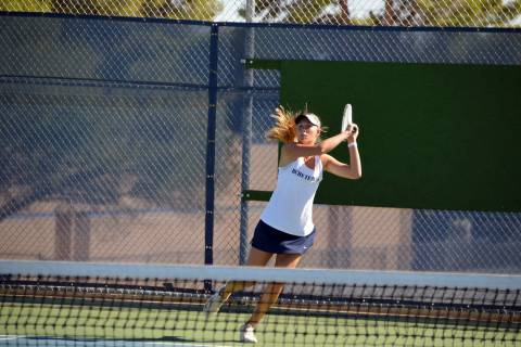 Celia Shortt Goodyear/Boulder City Review Boulder City High School senior Sophia Morris prepare ...
