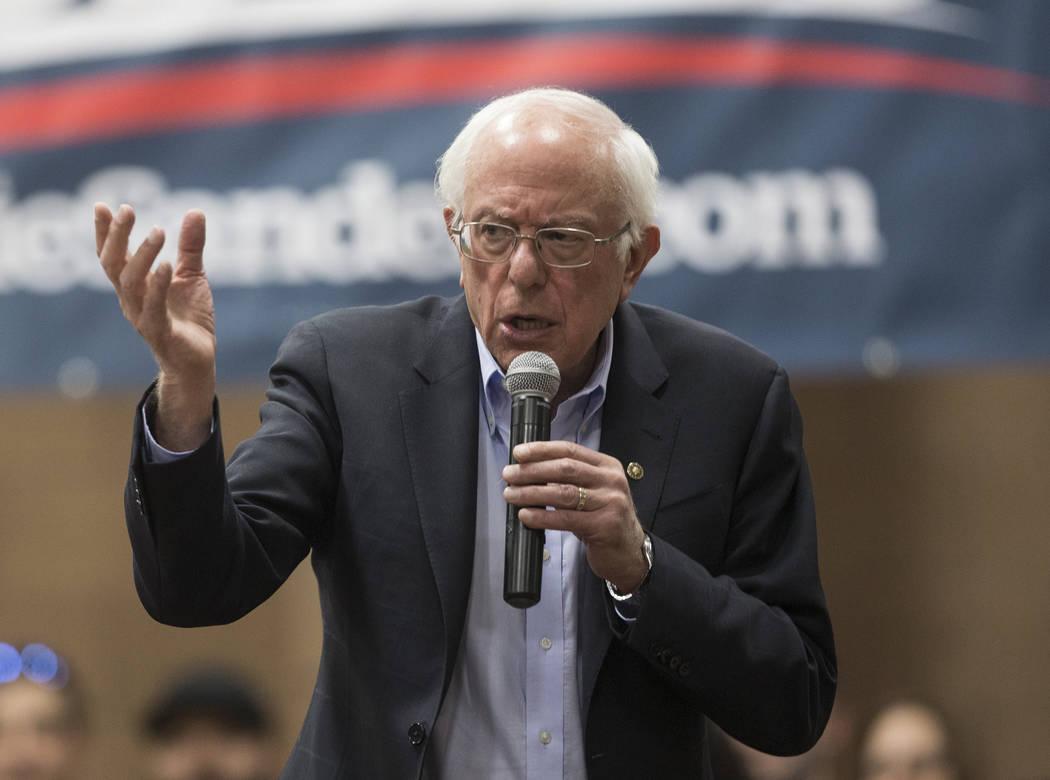 Democratic presidential candidate U.S. Sen. Bernie Sanders will be in Boulder City Tuesday, Oct ...