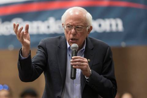 Democratic presidential candidate U.S. Sen. Bernie Sanders will be in Boulder City Tuesday, Oct ...