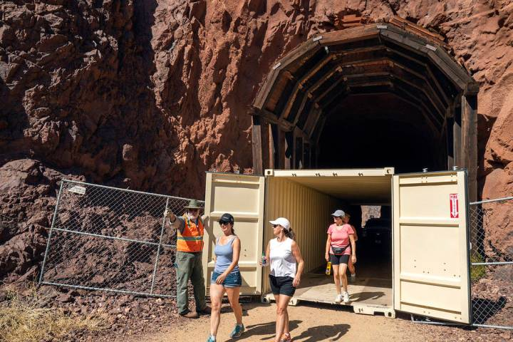 (National Park Service) Shipping containers have been put into the second and third tunnels alo ...