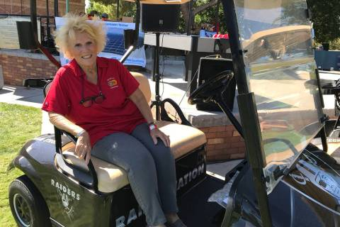 (Hali Bernstein Saylor/Boulder City Review) Cyndy Anderson, president of the Boulder City Sunri ...