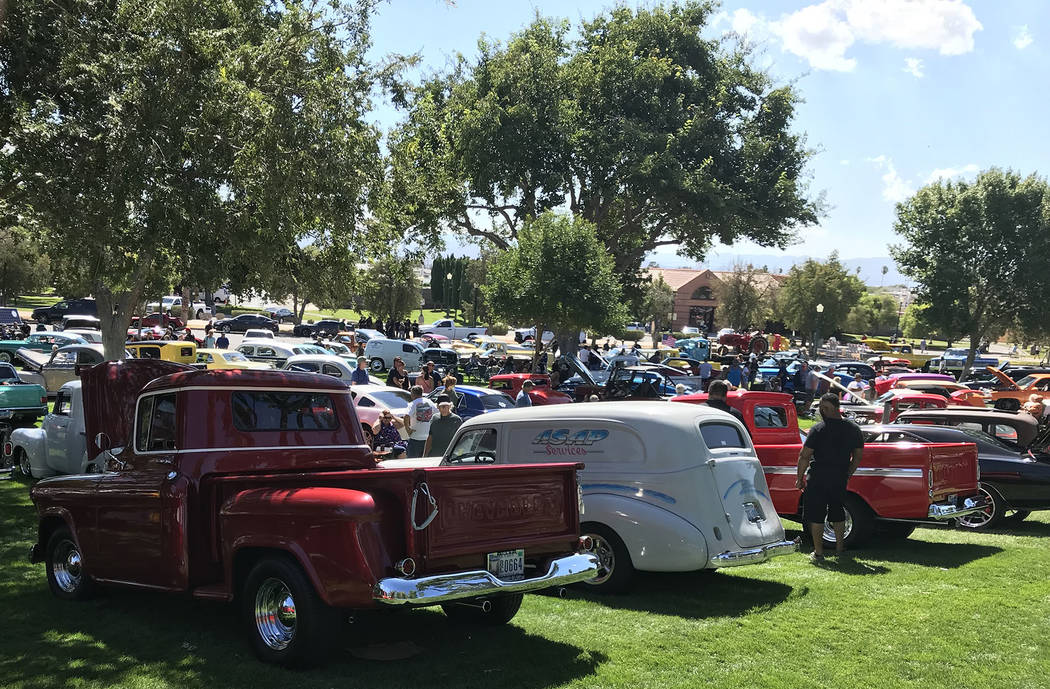 (Hali Bernstein Saylor/Boulder City Review) Hundreds of cars of all makes, models and years wer ...